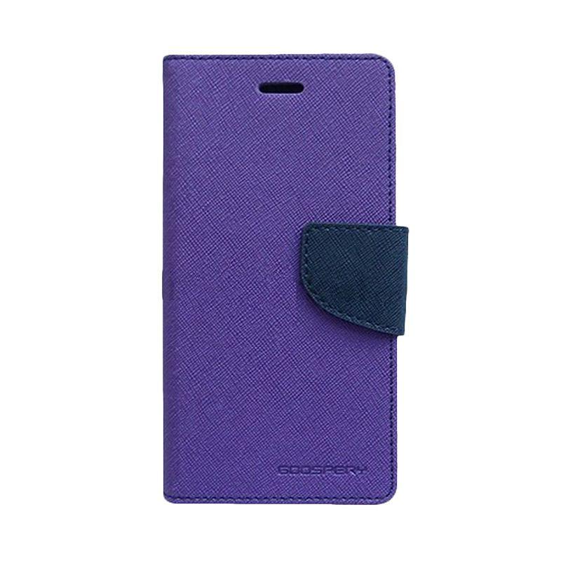 Mercury Goospery Fancy Diary Purple Navy Casing for Sony Xperia Z1