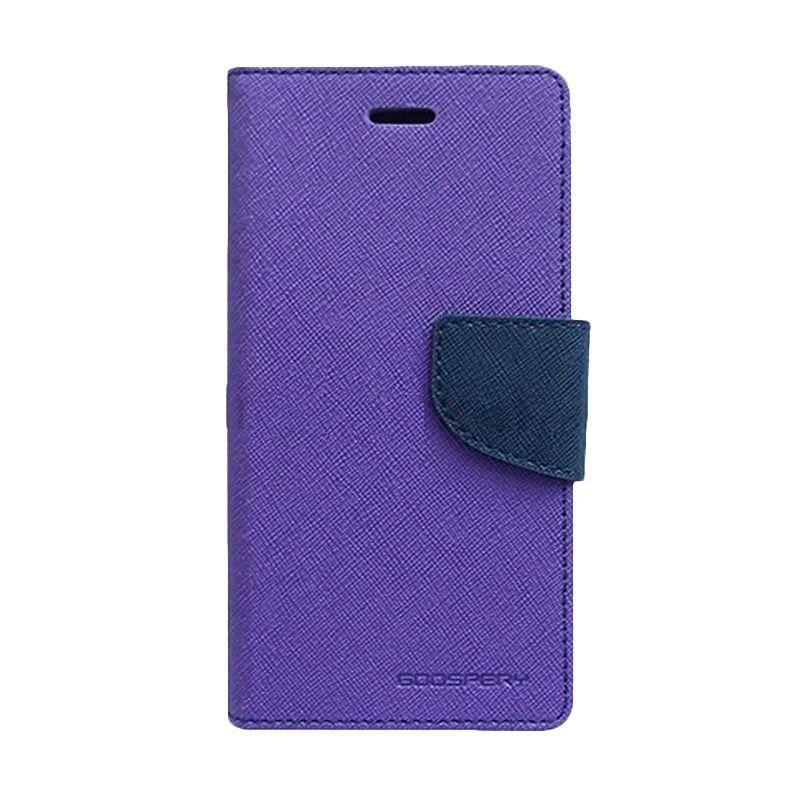 Mercury Goospery Fancy Diary Purple Navy Casing for Xiaomi Note
