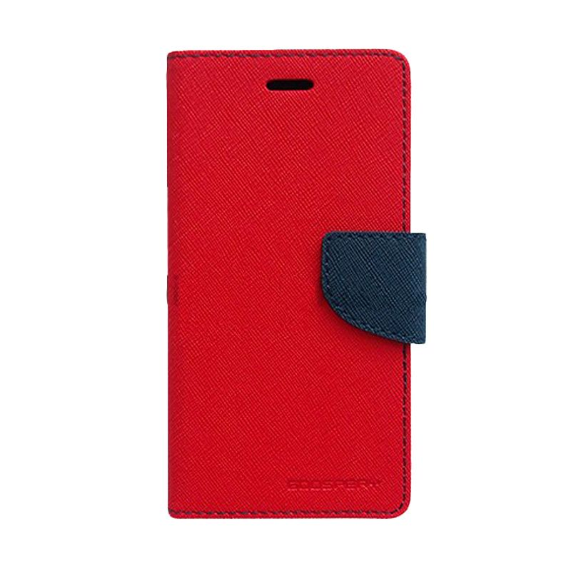 Mercury Goospery Fancy Diary Red Navy Casing for Asus Zenfone 6
