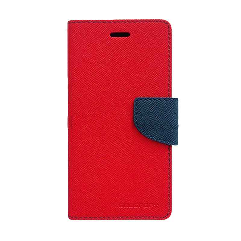 Mercury Goospery Fancy Diary Red Navy Flip Cover Casing for Galaxy Ace 4