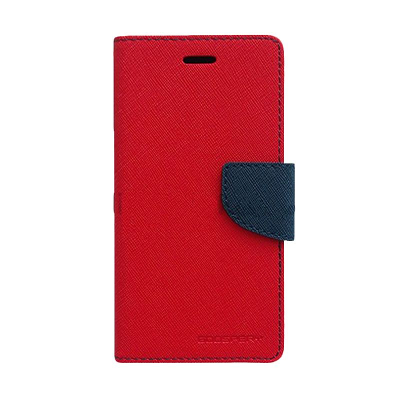 Mercury Goospery Fancy Diary Red Navy Casing for Galaxy Alpha