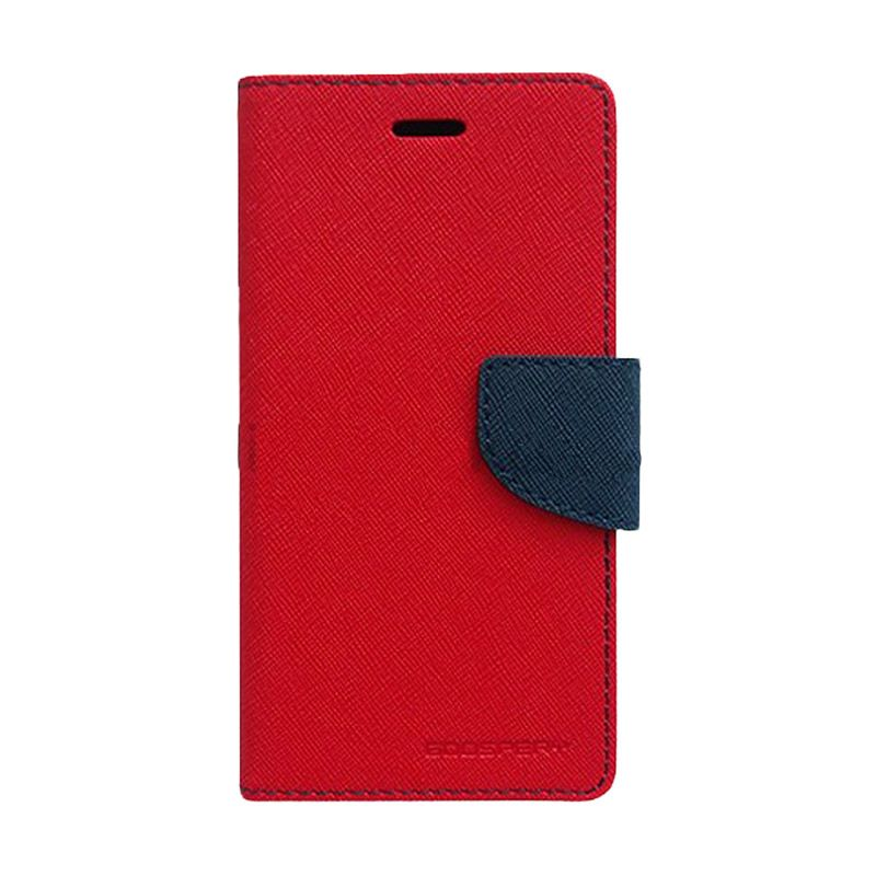 Mercury Goospery Fancy Diary Red Navy Casing for Galaxy Young 2