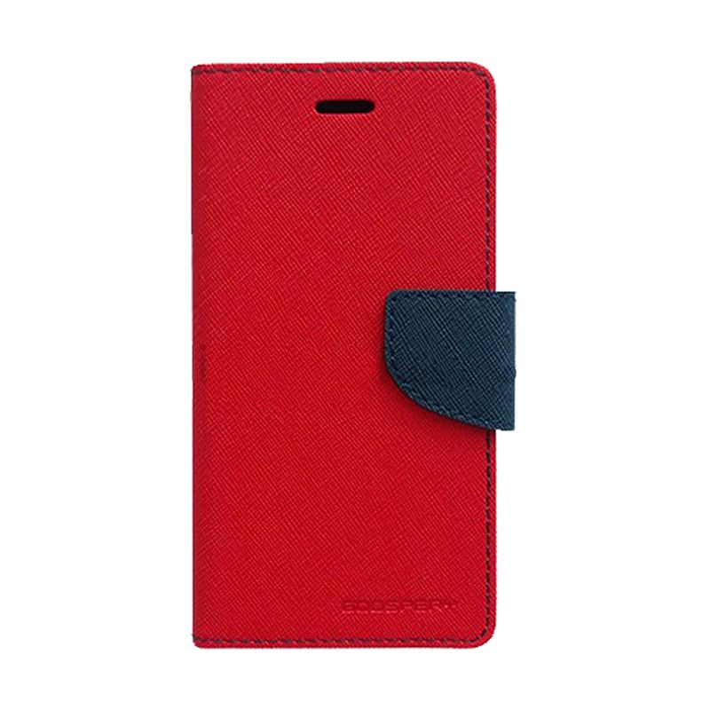 Mercury Goospery Fancy Diary Red Navy Casing for Samsung Galaxy E7