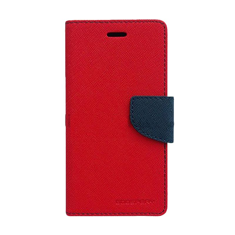 Mercury Goospery Fancy Diary Red Navy Casing for Samsung Galaxy Note 3