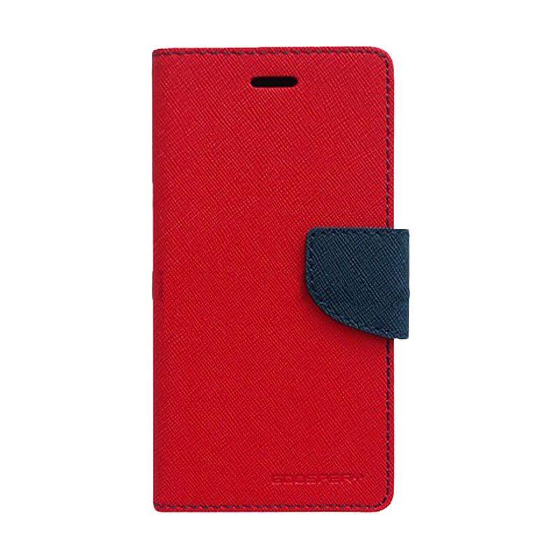 Mercury Goospery Fancy Diary Red Navy Casing for Sony Xperia E3