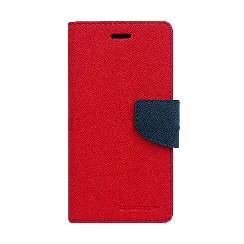 Mercury Goospery Fancy Diary Red Navy Casing for Sony Xperia V