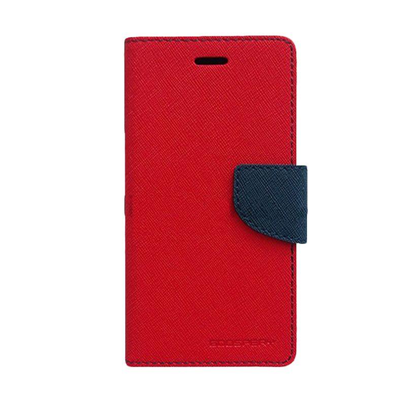 Mercury Goospery Fancy Diary Red Navy Casing for Sony Xperia Z1
