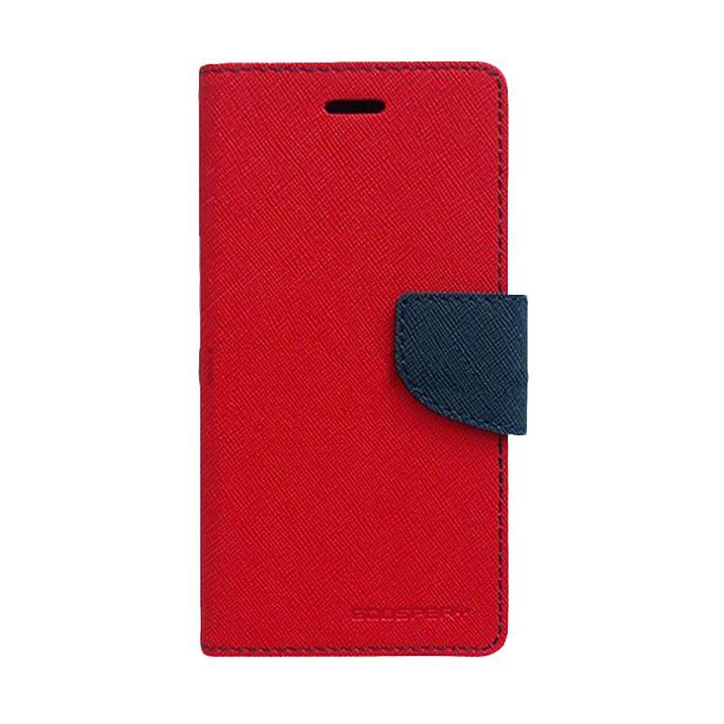 Mercury Goospery Fancy Diary Red Navy Casing for Sony Xperia Z2