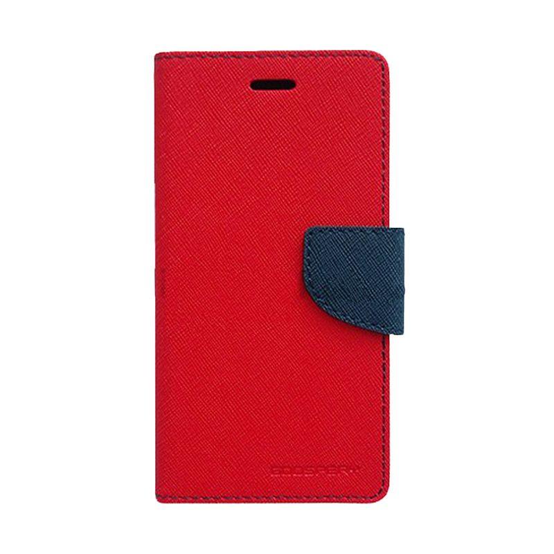 Mercury Goospery Fancy Diary Red Navy Casing for Sony Xperia Z3 Mini
