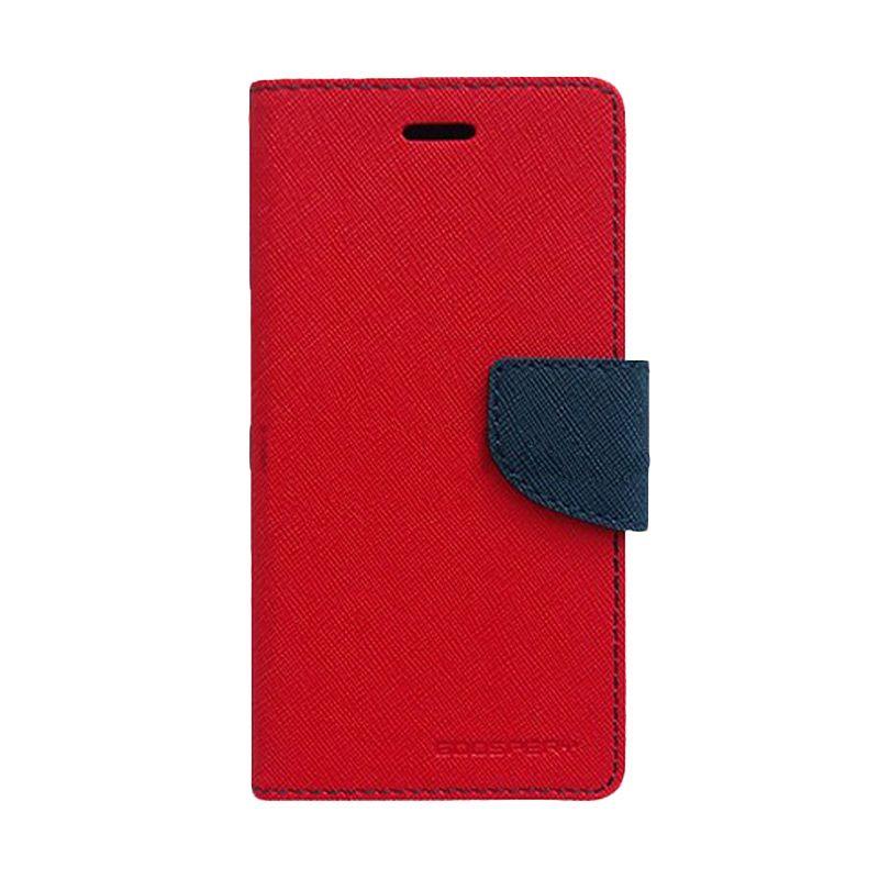 Mercury Goospery Fancy Diary Red Navy Casing for Sony Xperia Z3