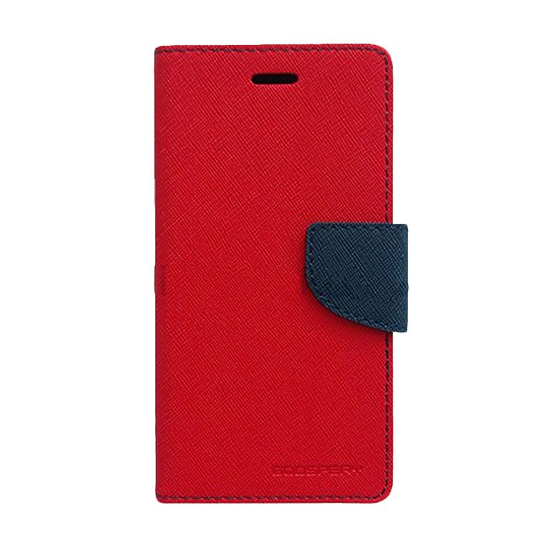 Mercury Goospery Fancy Diary Red Navy Flip Cover Casing for Galaxy Core