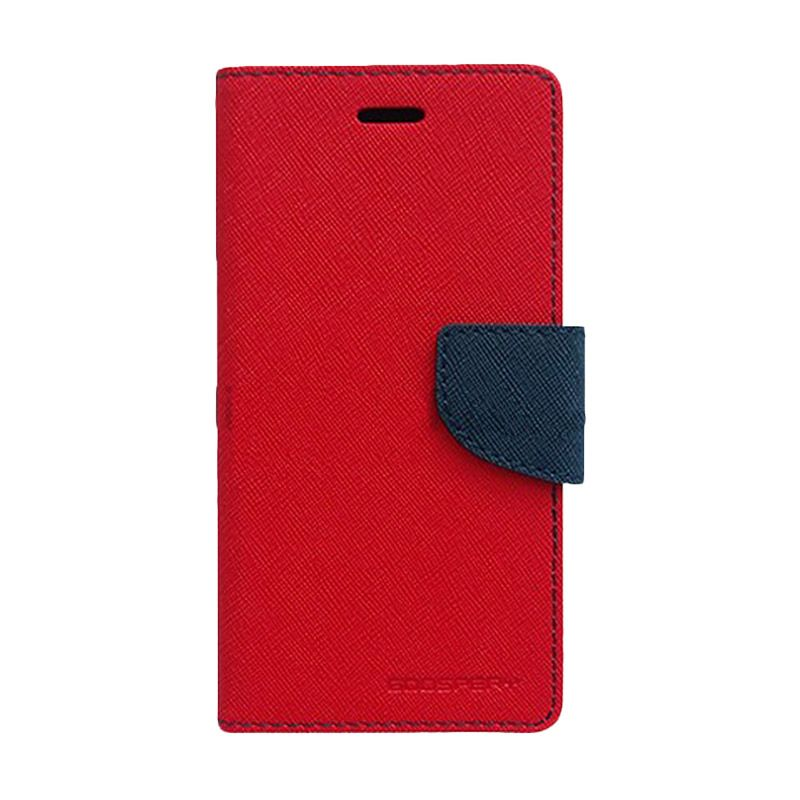 Mercury Goospery Fancy Diary Red Navy Casing for Galaxy S4