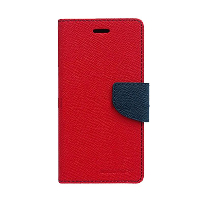 Mercury Goospery Fancy Diary Red Navy Flip Cover Casing for Galaxy Y Duos
