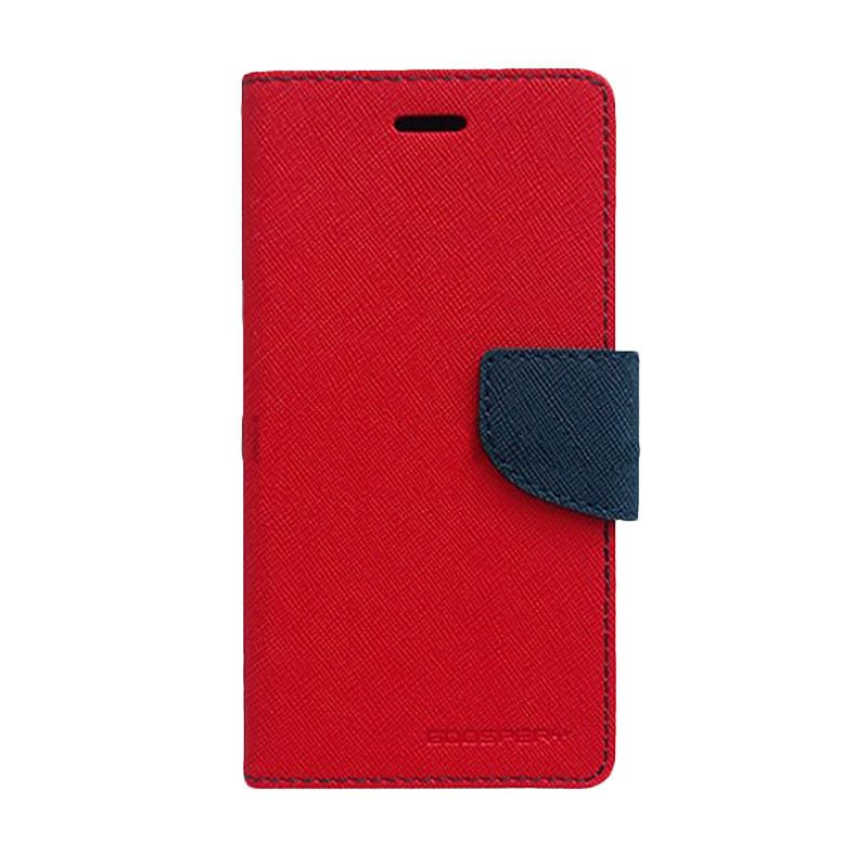 Mercury Goospery Fancy Diary Red Navy Casing for iPhone 5C