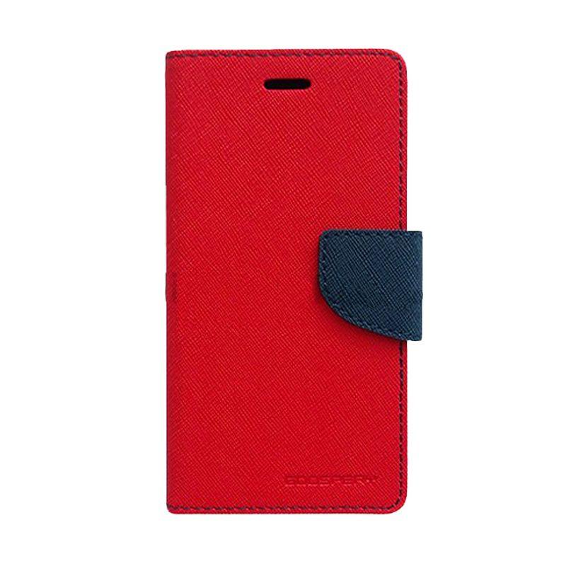 Mercury Goospery Fancy Diary Red Navy Flip Cover Casing for LG G Optimus Pro
