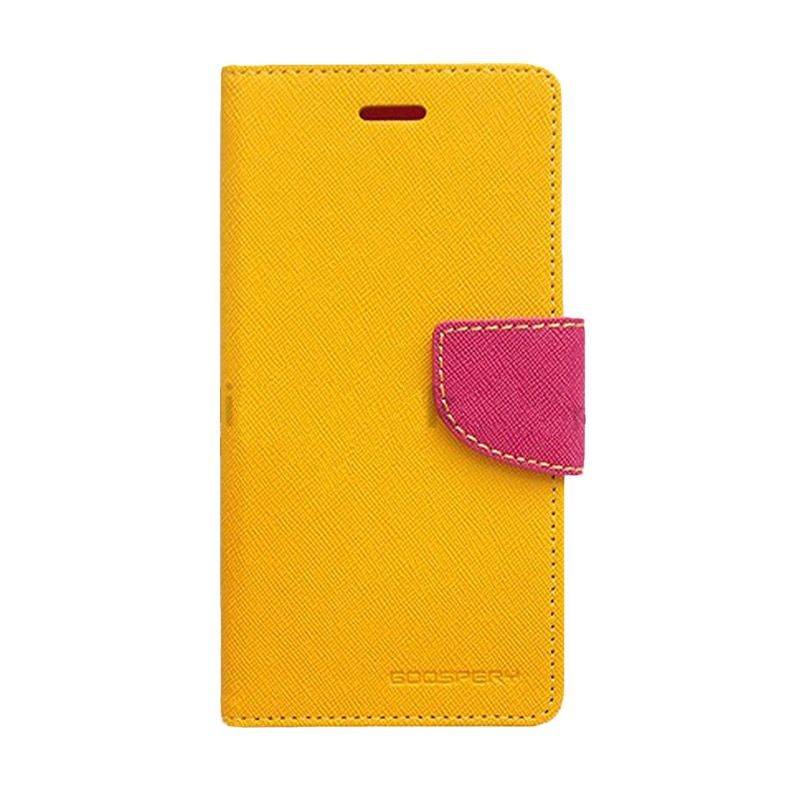 Mercury Goospery Fancy Diary Yellow Hot Pink Casing for Asus Zenfone 2