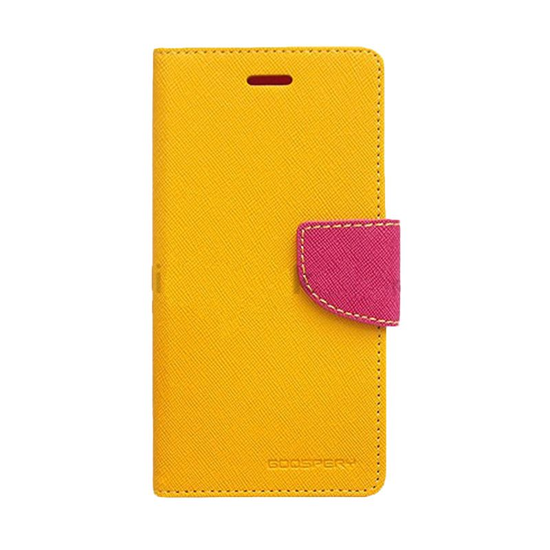 Mercury Goospery Fancy Diary Yellow Hot Pink Casing for Galaxy Young 2
