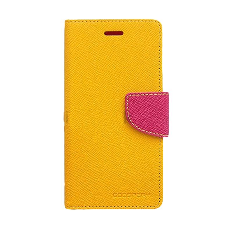 Mercury Goospery Fancy Diary Yellow Hot Pink Casing for LG G2