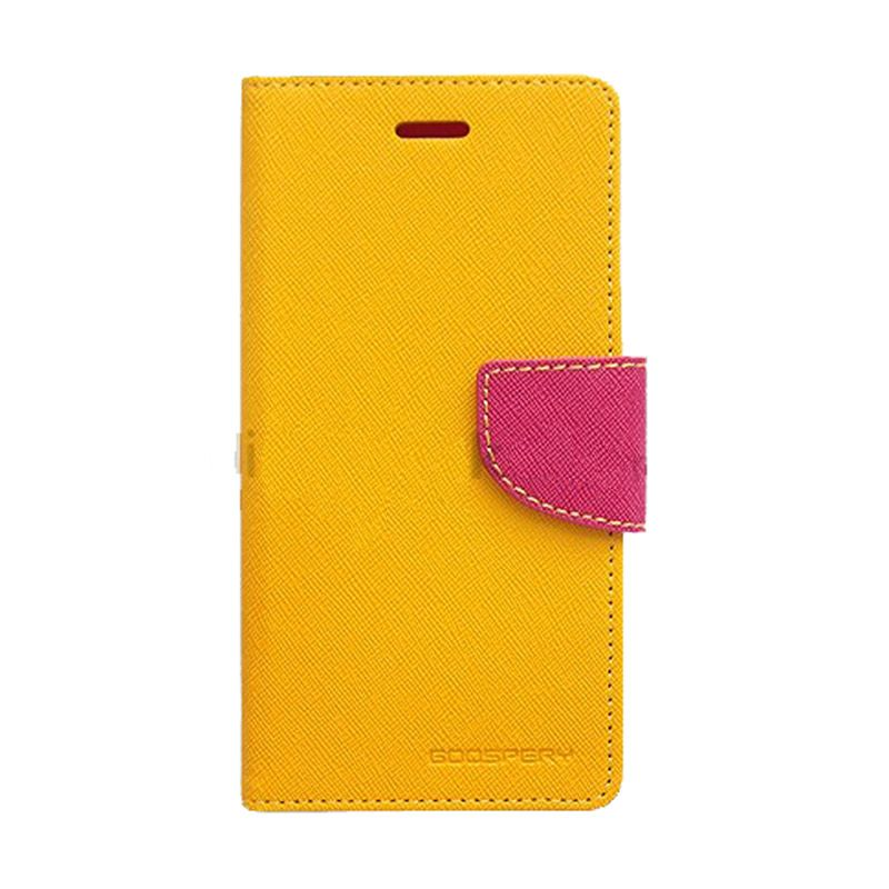 Mercury Goospery Fancy Diary Yellow Hot Pink Casing for OPPO R5