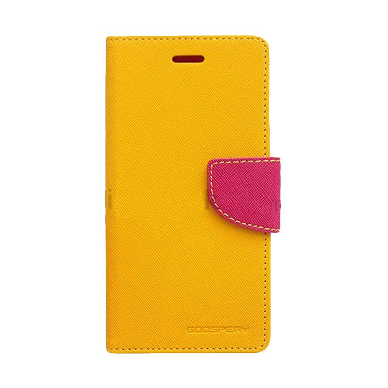 Mercury Goospery Fancy Diary Yellow Hot Pink Casing for Sony Xperia C3
