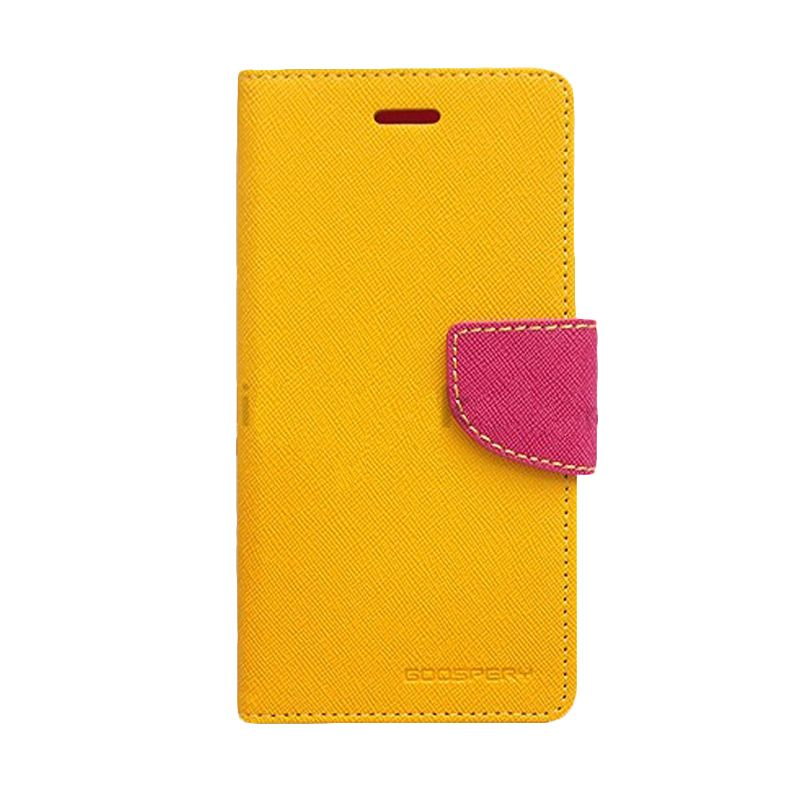 Mercury Goospery Fancy Diary Yellow Hot Pink Casing for Sony Xperia Z1