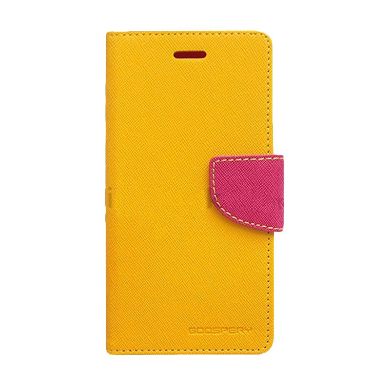 Mercury Goospery Fancy Diary Yellow Hot Pink Casing for Sony Xperia ZR