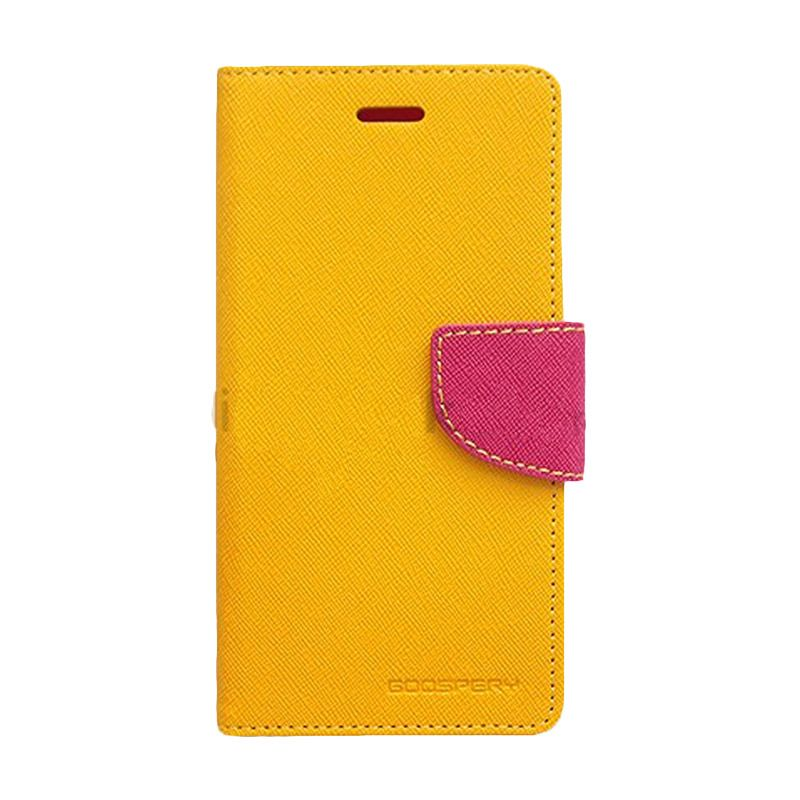 Mercury Goospery Fancy Diary Yellow Hot Pink Casing for Xiaomi Note
