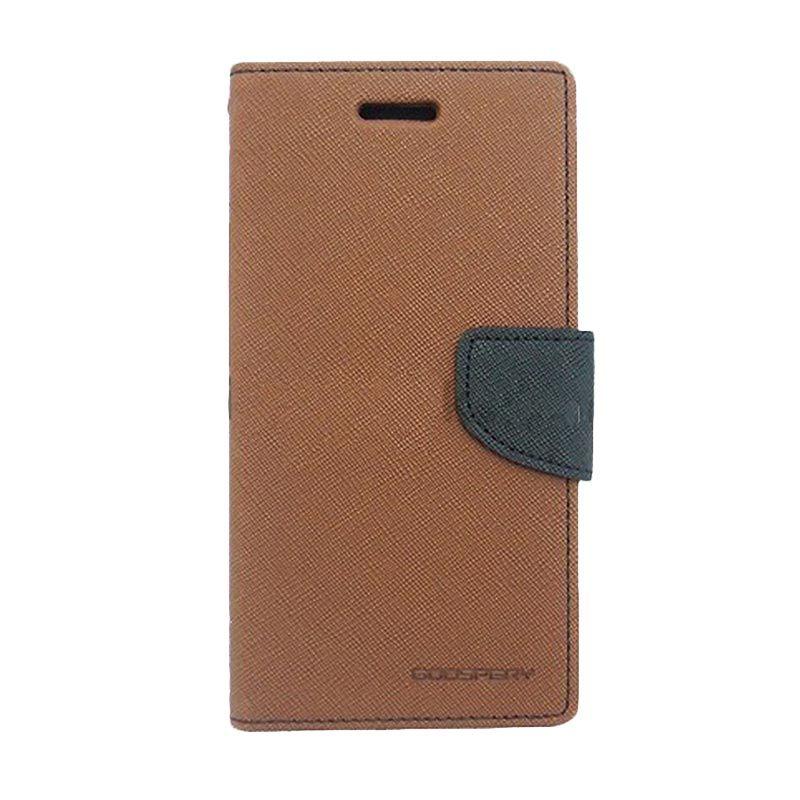 Mercury Goospery Fancy Diary Brown Black Casing for LG Nexus 5