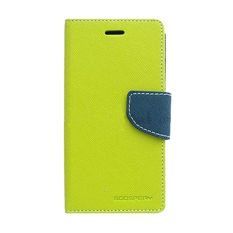 Mercury Goospery Fancy Diary Lime Navy Casing for OPPO R5