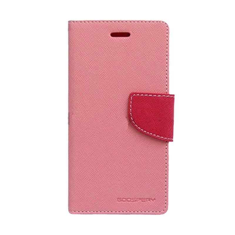 Mercury Goospery Fancy Diary Pink Hot Pink Casing for Galaxy J1