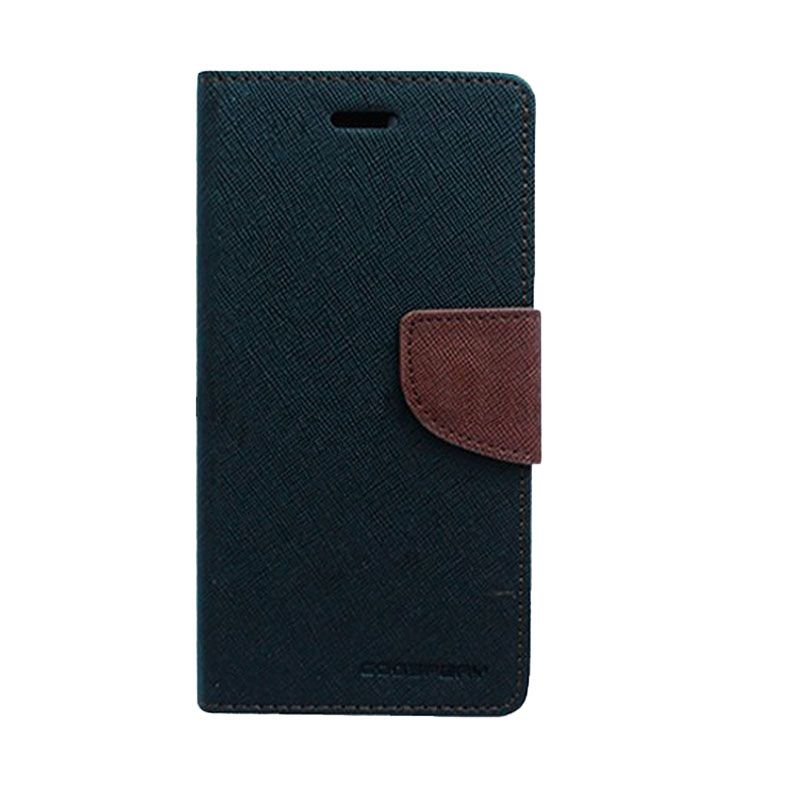 Mercury Goospery Fancy Diary Black Brown Casing for Galaxy J1