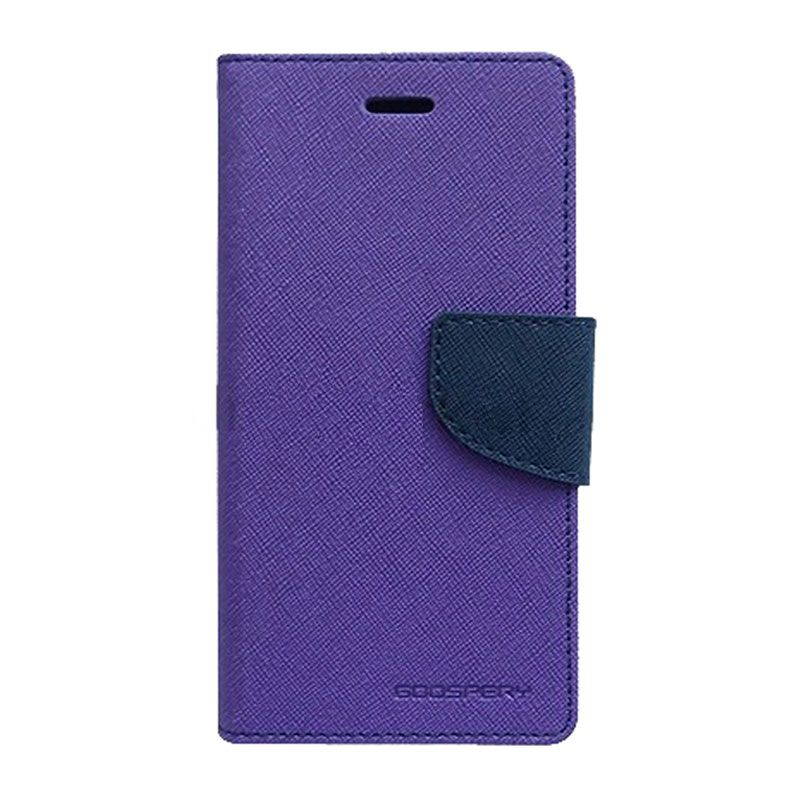 Mercury Goospery Fancy Diary Purple Navy Casing for Galaxy E5