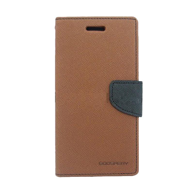 Mercury Goospery Fancy Diary Brown Black Casing for Xiaomi M3