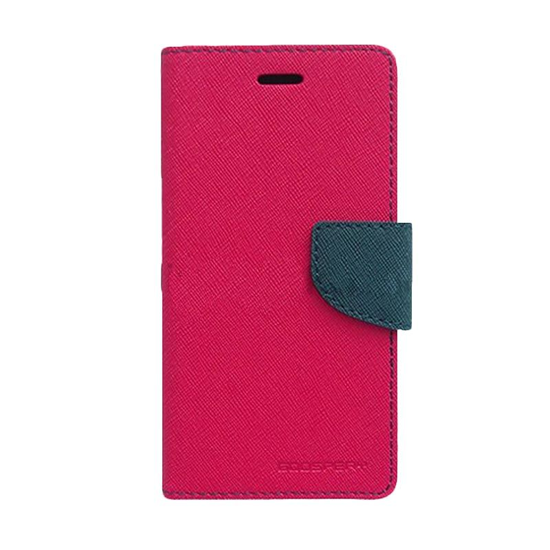 Mercury Goospery Fancy Diary Hot Pink Navy Casing for Xiaomi M3