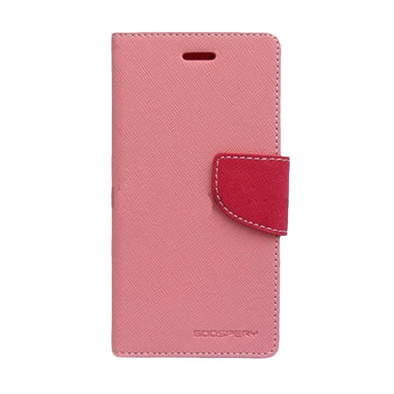 Mercury Goospery Fancy Diary Pink Hot Pink Casing for Xiaomi M3