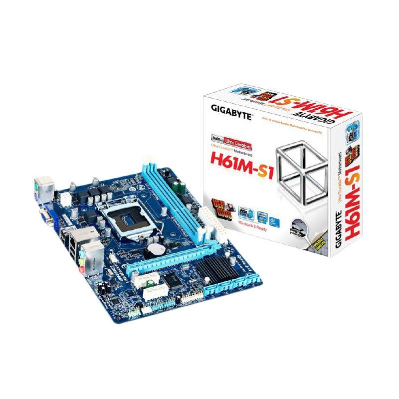 GIGABYTE Motherboard GA-H61M-DS2 soccket 1155 Aksesoris Komputer
