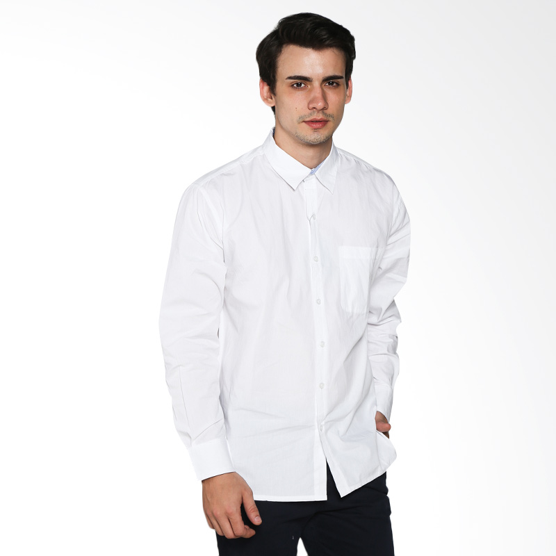 Contempo Men B1115L06-C24 Internal Shirt Long Sleeve White