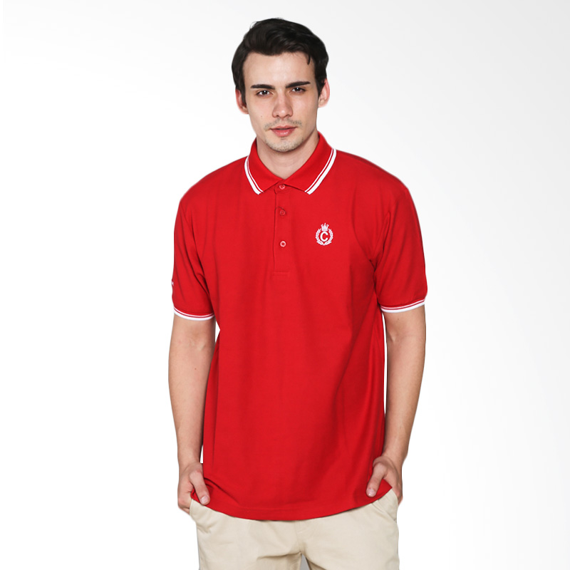 Contempo Men B1215H01-A15 Internal Short Sleeve Polo Shirt - Red Extra diskon 7% setiap hari Extra diskon 5% setiap hari Citibank – lebih hemat 10%
