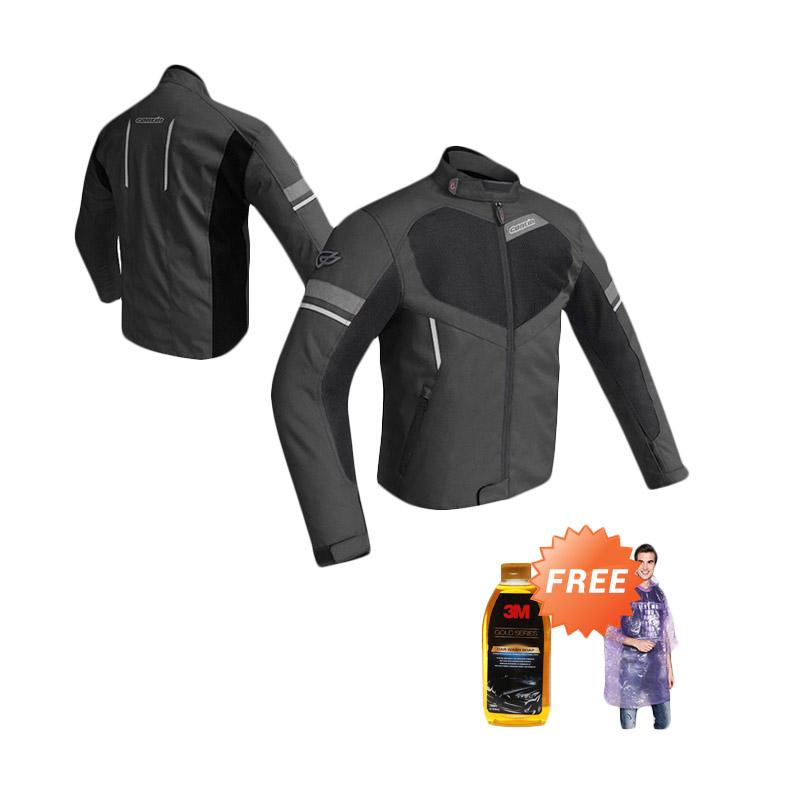 Promo Contin Chimera Oxford Jaket Motor - Black + Free 3M Car Shampoo Bottle [500 mL] dan Jas Hujan