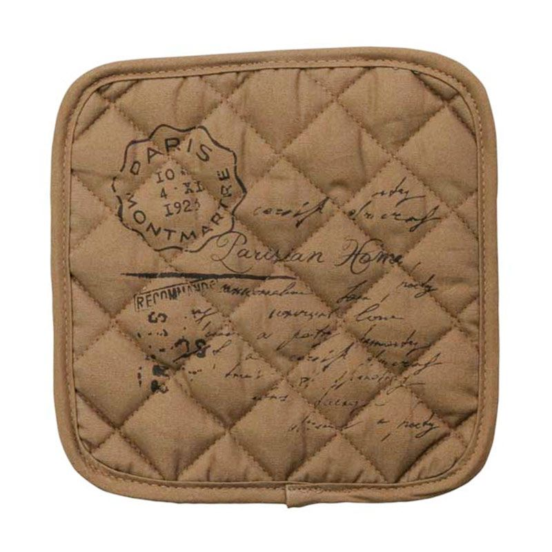 Cook & Bake POT HOLDER - BON APPETIT - DARK KHAKI