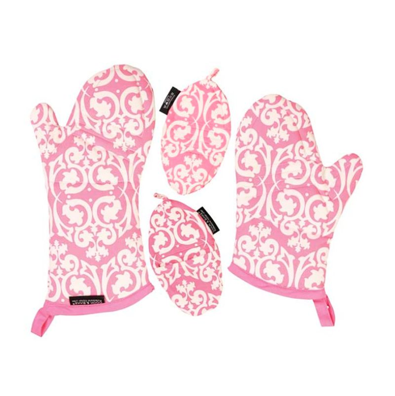 Cook & Bake Set Of 4 Motif Damask Pink