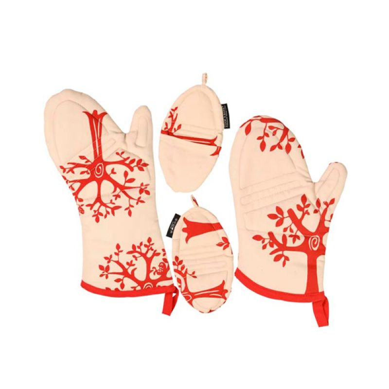 Cook & Bake Set Of 4 Motif Tree Red