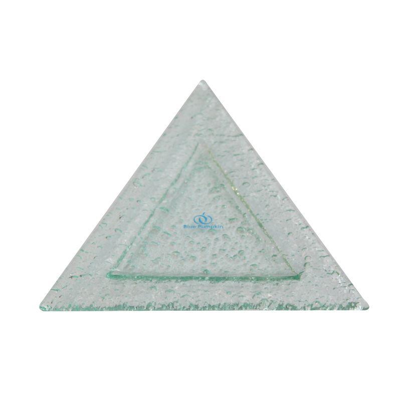 BluePumpkin Triangular Rim Plate Clear Tempat Buah