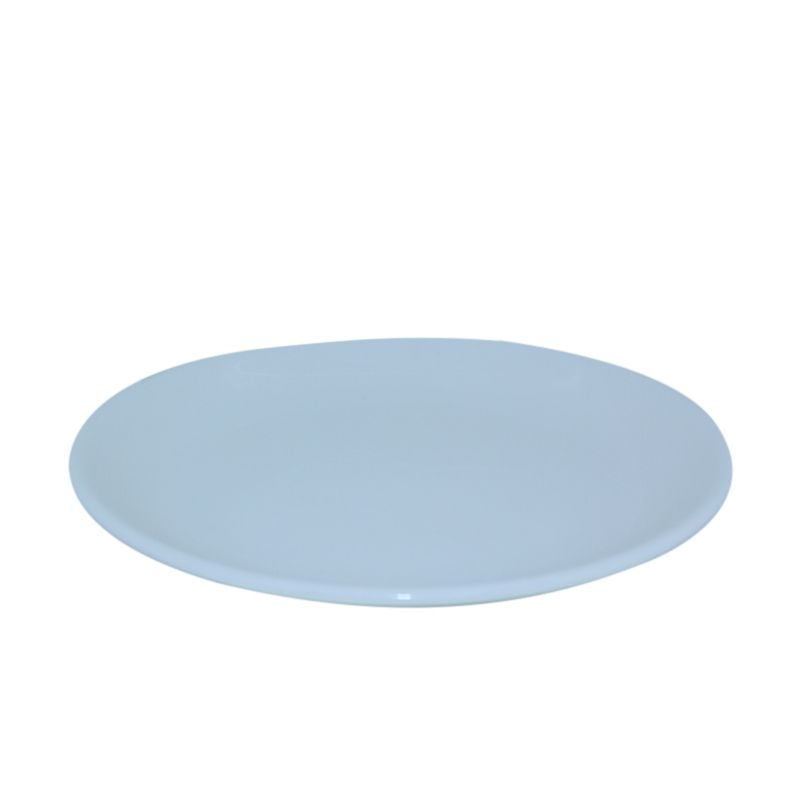St James Chain Round Serving Plate White Piring [14 Inch]
