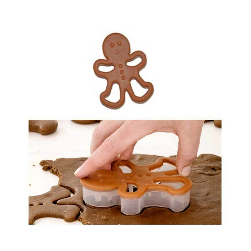 CH Gingerbread Boy Cookie Cutter Brown