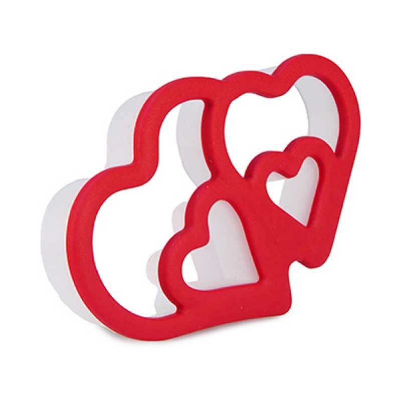 CH Twin Hearts Cookie Cutter Red