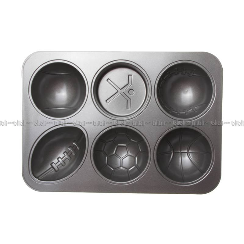 Cooks Habit Sport Muffin  Pan - 6 Cups