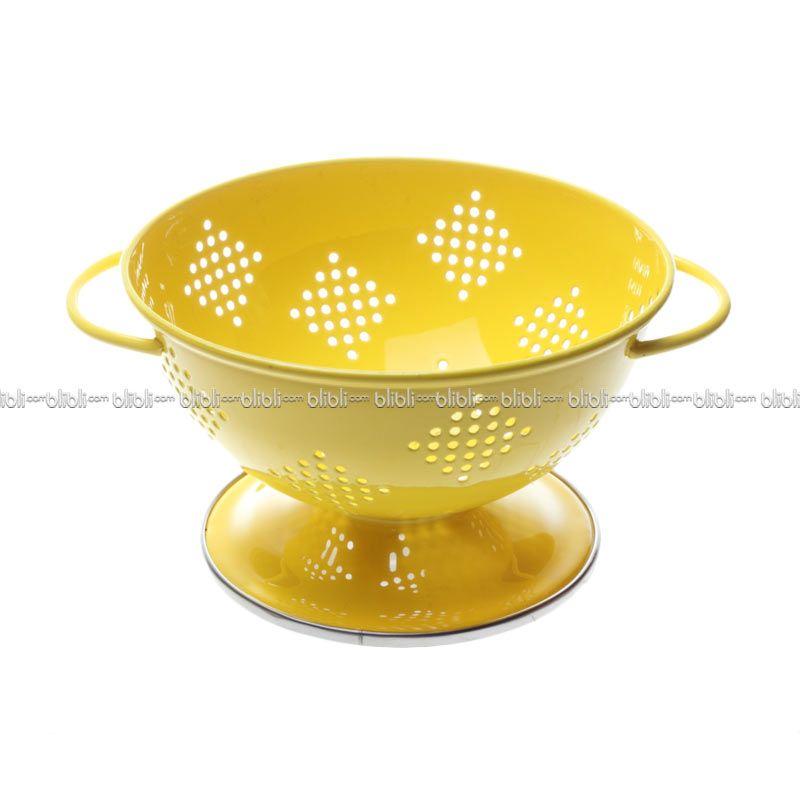 Cooks Habit Colander 0.8 QT Berry Coating Yellow