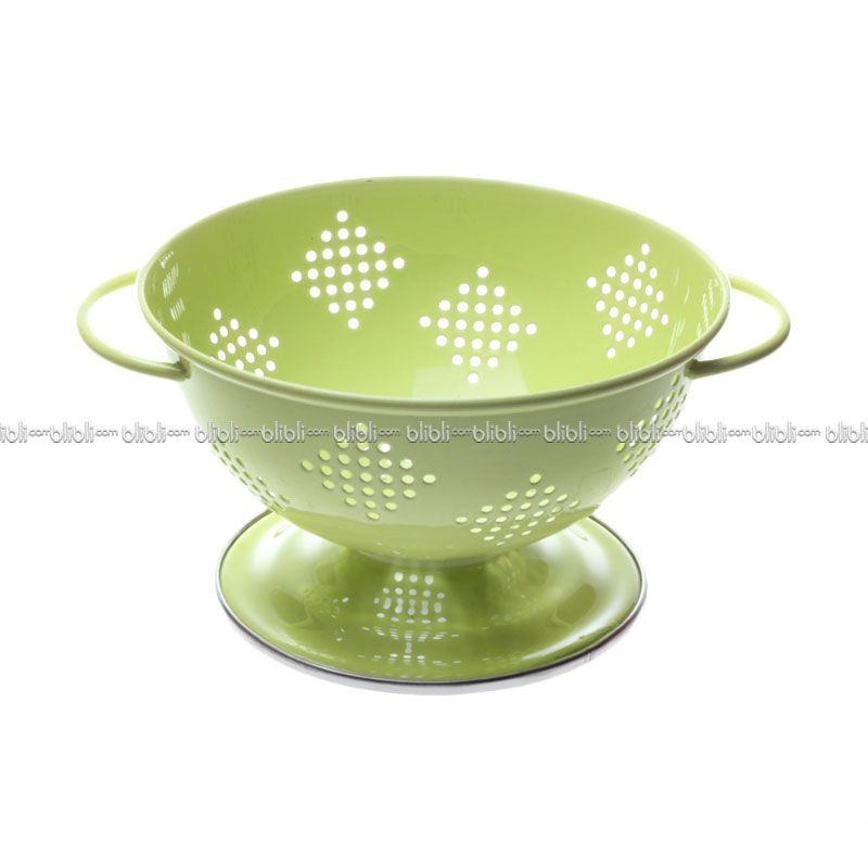 Cooks Habit Colander 0.8 QT Berry Coating Light Green