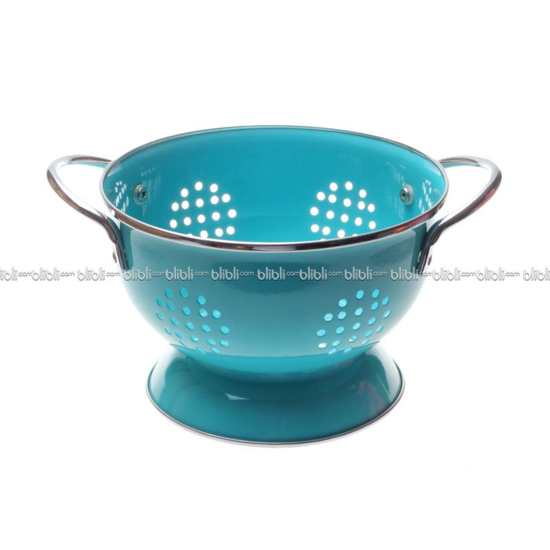 Cooks Habit Colander 1.2 QT Coating Turquoise Blue